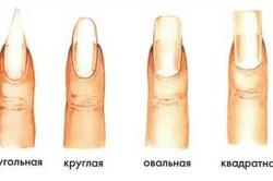 Основные формы ногтей для наращивания