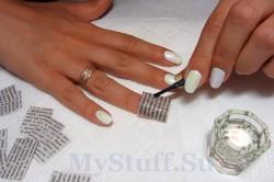 Перенесение букв с газеты на ногти