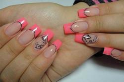 Красочный летний маникюр на длинные ногти