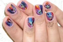 Рисунок на коротких ногтях
