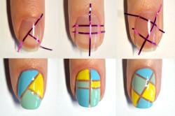 Создание геометрического маникюра своими руками