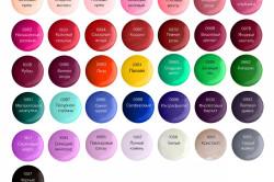 Цветовая гамма биогеля