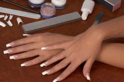 Наращивание ногтей гель пудрой на типсы