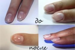 Эффект покрытия ногтей биогелем