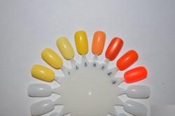 Обзор желтых и оранжевых лаков