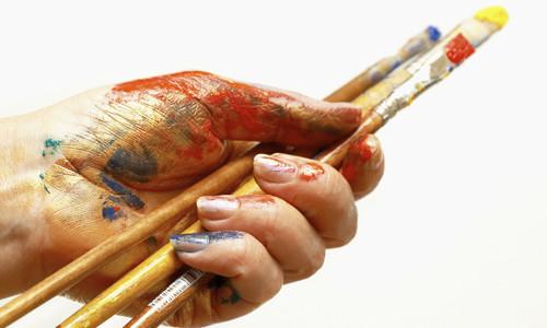 Тренировка росписи ногтей