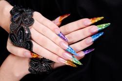 Аквариумный дизайн гелевых ногтей