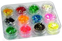 Разноцветные блестки для маникюра