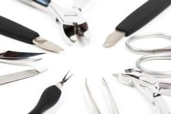 Инструменты для шеллак педикюра