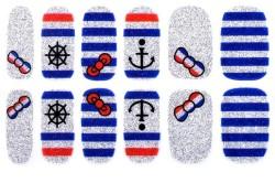 Наклейки для ногтей в морском стиле