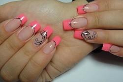 Наращенные ногти акрилом