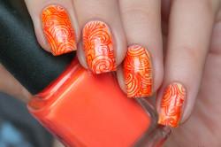 Летний оранжевый стемпинг