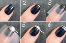 Схема рисования полосок на ногтях