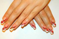 Цветочный дизайн ногтей