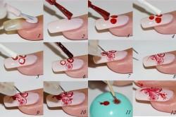Этапы нанесения росписи на ногти