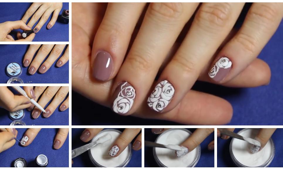 Как сделать объемные рисунок на ногтях