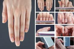 Создание квадратной формы ногтей
