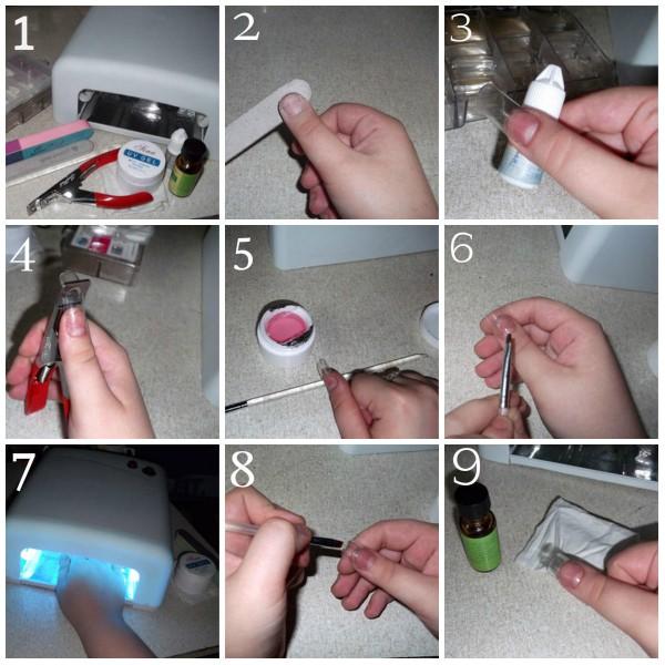 Наращивание ногтей гелем техника