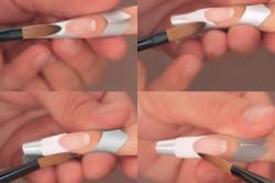 Процесс наращивания ногтей акрилом