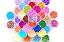 Цветной песок для ногтей