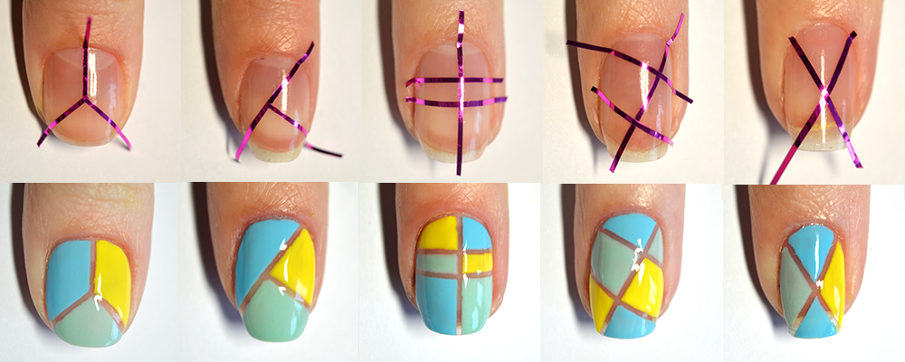Как сделать полоски лаком на ногтях