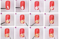 Техника рисунка на ногтях иголкой