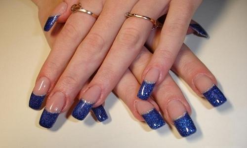 Синий френч с блестками