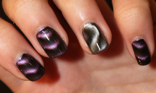 Темный магнитный лак для ногтей