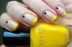 Желтый френч с бусинами