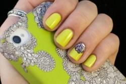 Желтый маникюр по фэншую