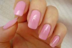 Фото 2. Покрытие всех ногтей одним цветом